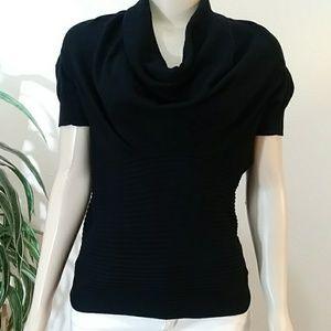 Apt 9 Cowl Neck Black Sweater Top Size Large